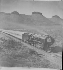 Three Sisters, 19 April 1947 . SAR Class 15F with Royal Train.