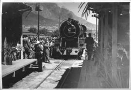 The first SAR Class S1 No 374 built at Salt River 1948 and named 'Voortrekker'. Shown here at the...