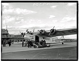 Johannesburg, 1936. Rand airport. Imperial Airways Armstrong Whitworth Atalanta G-ABTG Amalthea p...