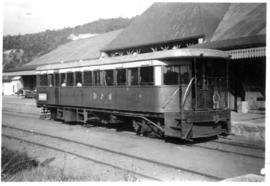 Grahamstown, circa 1939-1941. Railcar RM23 working between Port Alfred and Grahamstown.