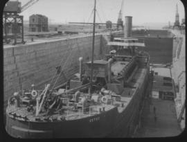 Durban. Tug 'Cetus' in graving dock.