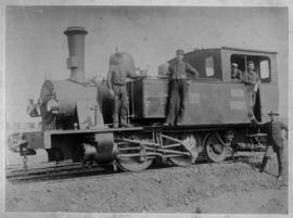 NZASM 19 Tonner No 31 with Mr THG Papenfus with white cap on footplate.