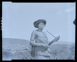 Transkei, 1954. Woman smoking pipe.