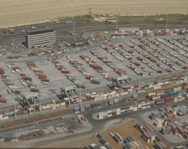 Johannesburg, 1981. Aerial view of the City Deep container depot.