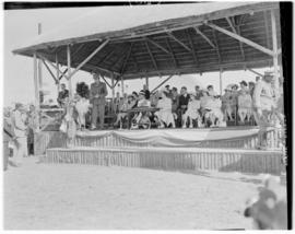 Eshowe, 19 March 1947. Royal family on dais.