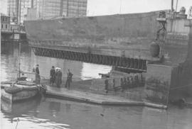 Cape Town, 10 October 1943. Floating pontoon constructed during World War Two.