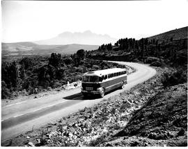 Caledon district, 1950. SAR Canadian Brill bus near Elgin.