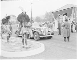 Swaziland, 25 March 1947. Royal family prepares to leave the stadium.