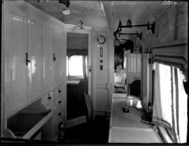 Interior of bedroom of SAR saloon coach No.2 for the Duchess of Connaught. Royal Train.