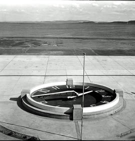 "Johannesburg, 1937. Close up shot of ""Airman's Clock"" on the ground."
