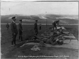 Johannesburg, 9 to 18 March 1922. Soldiers practicing at a rifle range.