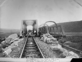 29 March 1903. Replacing 100 foot span on the Little Bushman's River Bridge at 148 1/4 miles. New...