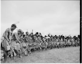 Swaziland, 25 March 1947. Traditional dancers.