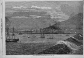 Cape Town, 1870. Table Bay Harbour. From the Illustrated London News, 12 November 1870.