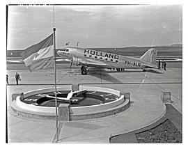 Johannesburg, 1940. Rand airport. KLM Douglas DC-3 PH-ALR. (3 negatives)