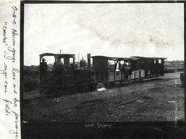 Stanger district. Narrow gauge train on North Coast light railway at Kearsney.