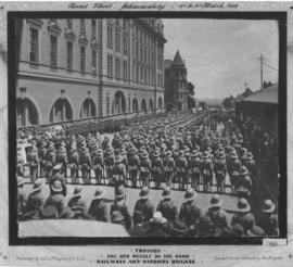 Johannesburg, 9 to 18 March 1922. Parade of the Railways and Harbour Brigade in Noord Street duri...