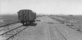 Wildfontein, 1895. Goods wagon at station. (EH Short)