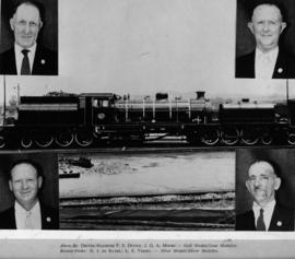 Nelspruit, 1960. SAR Class GF with four medal-winning locomotive drivers.