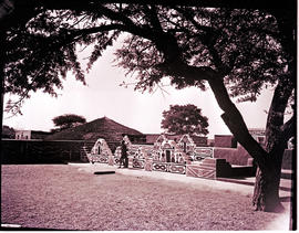 """Pretoria district, 1965. Ndebele village."""