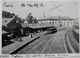 Pretoria, circa 1912. View of old and new stations.