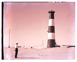 Walvis Bay district, South-West Africa, 1961. Pelican Point light house.