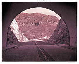 Paarl district, 1949. Du Toitskloof Pass tunnel.