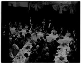 Cape Town, 21 February 1947. Stae banquet in City Hall.