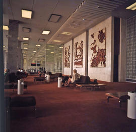 Johannesburg, 1973. Jan Smuts Airport. Artwork in the waiting area