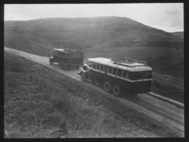 Pondoland. Two SAR buses on the road.