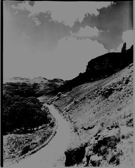 Bethlehem district, 1938. Road next to prominent hill.