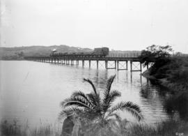 Port Shepstone. Goods train on bridge.