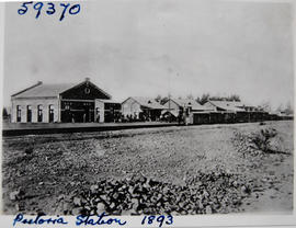 Pretoria, 1893. Railway station.