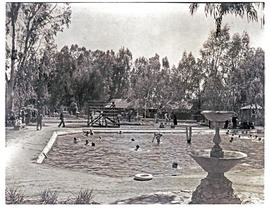 """Aliwal North, 1938. Pool at hot springs resort."""