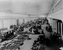 Johannesburg, 1939. Langlaagte. Interior of workshops of the Road Motor Services.