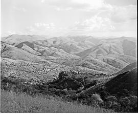 """Nelspruit district, 1954. Mountain view at Kaapsche Hoop."""