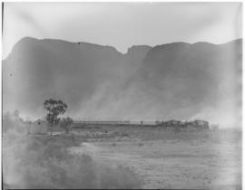 Oudtshoorn, 24 February 1947. Royal Train at Le Roux Farm.