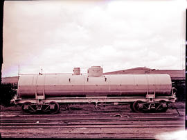 Pietermaritzburg, 1938. SAR petrol tank wagon Type XP-6, corrugated iron cover and other items no...