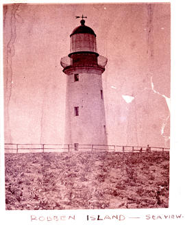 Cape Town, 1948. Robben Island lighthouse.