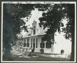 Paarl district, 1939. Rhone farmhouse.
