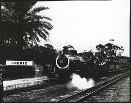 Loerie, 1977. SAR Class NG15 with Apple Express departing from Loerie railway station returning t...