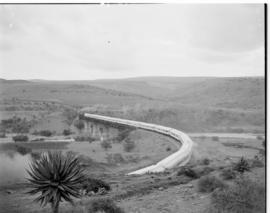 Eastern Cape, March 1947. SAR Class 19D No 2712 and 2723 leading the Royal train in a sharp curve...