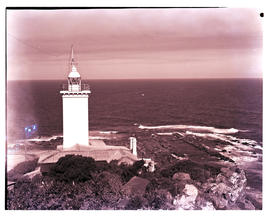 Mossel Bay, 1966. Cape St Blaize lighthouse.