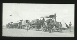 Two Fowler tractors with trailers.