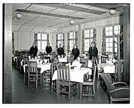 Johannesburg, 1947. Palmietfontein airport. Interior of dining room.
