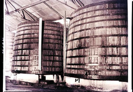 Paarl, 1939. Two 1000 hectolitre vats at KWV.