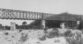 Railway bridge between Paarl and Lady Grey with partially built stone piers. (EH Short)