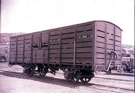 CSAR type G9 No 69500 four-wheeled short double deck sheep wagon, later SAR type H-3.