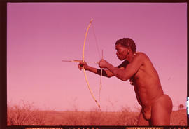 Kalahari. Bushman hunter.