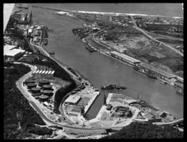 East London. Aerial view of Princess Elizaberth graving dock in Buffalo harbour.